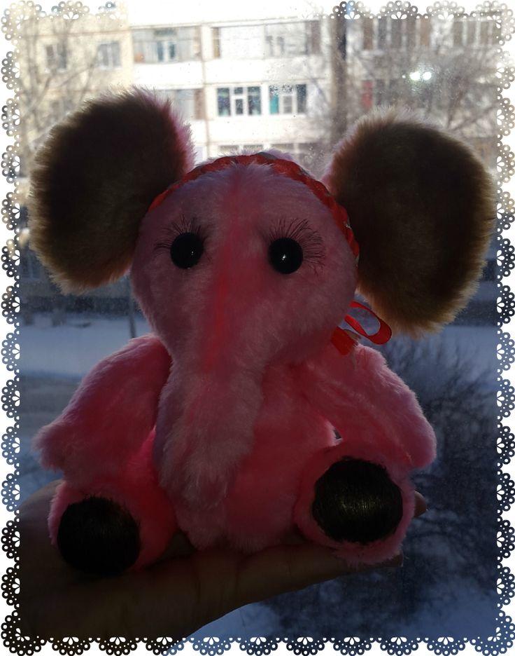 Творческая мастерская Никифоровой Минаят!!!: Розовый слоник!!!