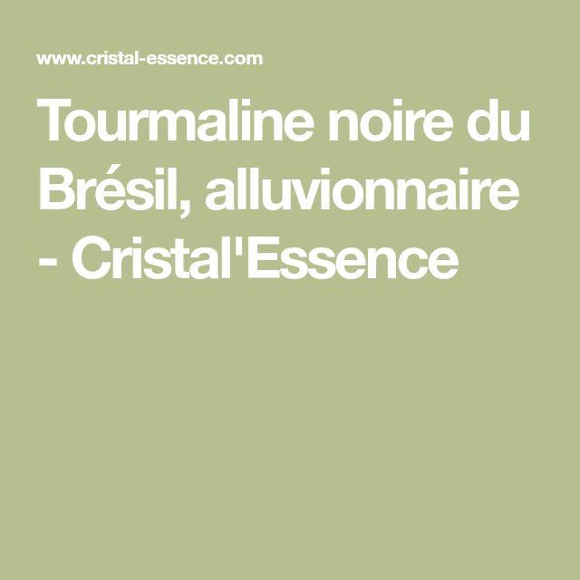 Tourmaline noire du Brésil, alluvionnaire - Cristal'Essence