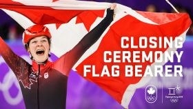 Triple Olympic medallist Kim Boutin will carry the Canadian flag into Sunday's Closing Ceremony at PyeongChang 2018. The short track...