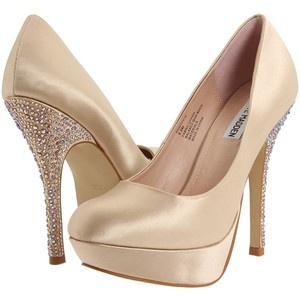 bedazzledNude Shoes, Fashion, Wedding Shoes, Style, Madden Partyy R, Bridesmaid Shoes, Steve Madden, Heels, Shoes Shoes