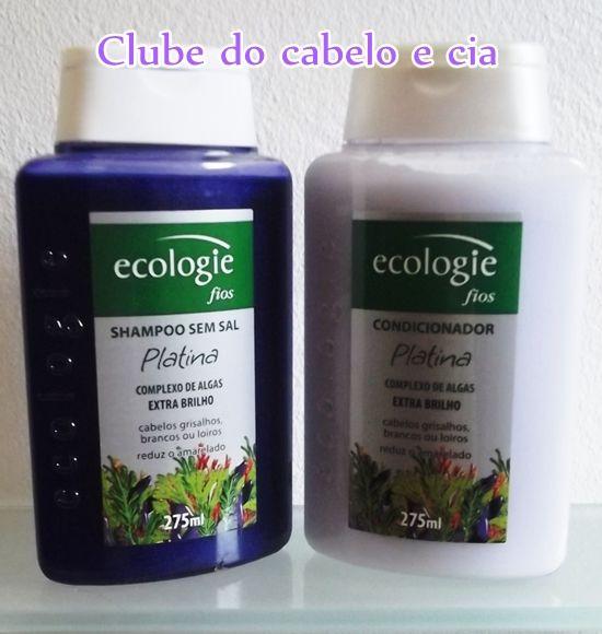 Clube do cabelo e cia: TESTEI: LINHA ECOLOGIE PLATINA SULFATE FREE- PARA CABELOS LOIROS