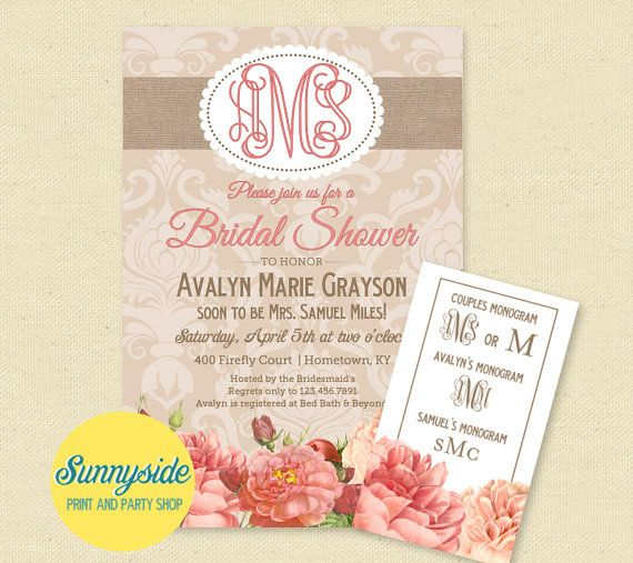 Best 25 Monogram bridal showers ideas on Pinterest Girl shower
