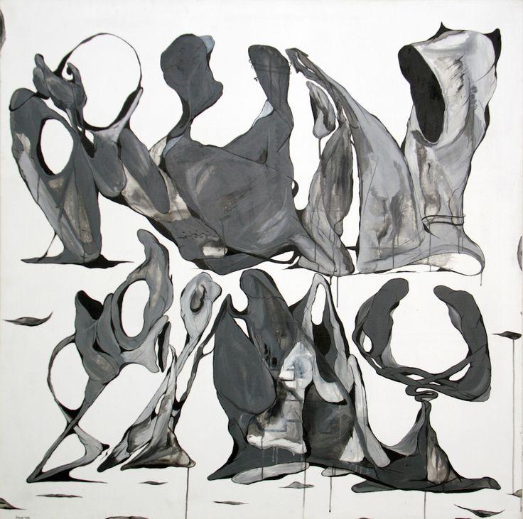 "Maksim Ima ""Run away"", acrylic on canvas, 150x150, 2015 #современное #искусство #дизайн #интерьер #design #decor #interior #графика #живопись #contemporaryart #design #streetart #стритарт #abstraction #современноеискусство #арт #maximima #28bugs"