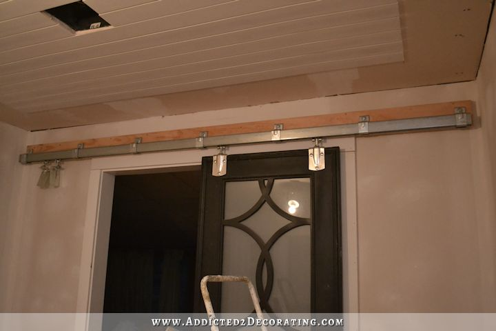 how to install square rail door track - cheap barn door hardware - 11