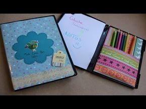 ▶ Estuche Porta lapices y notas // Reutiliza caja de DVD - YouTube