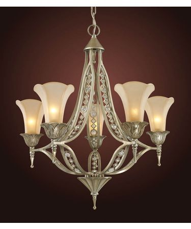 Trump Home 3826 5 Chelsea 26 Inch Chandelier Aged Silver Finish 750