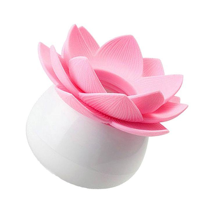 SZS Hot 1 x Lotus Cotton Bud Stick Swab Makeup Storage Box Holder Cosmetic Bath Decor Gift, S Pink
