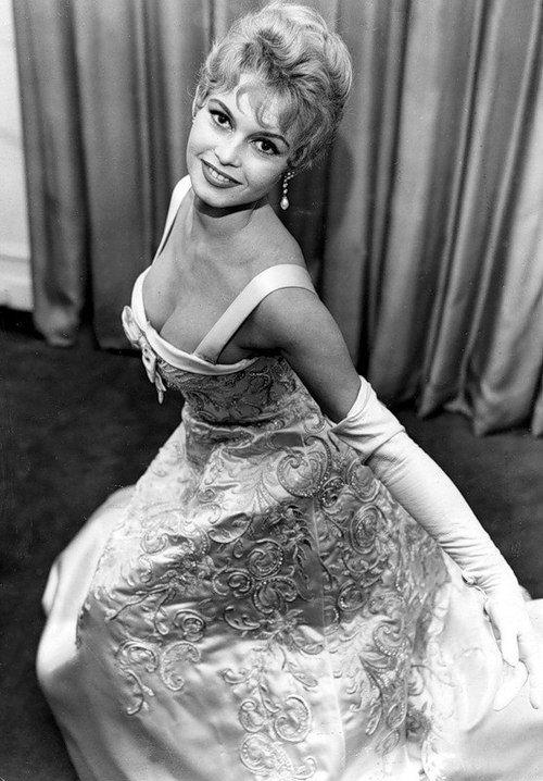 Brigitte Bardot in a Balmain gown