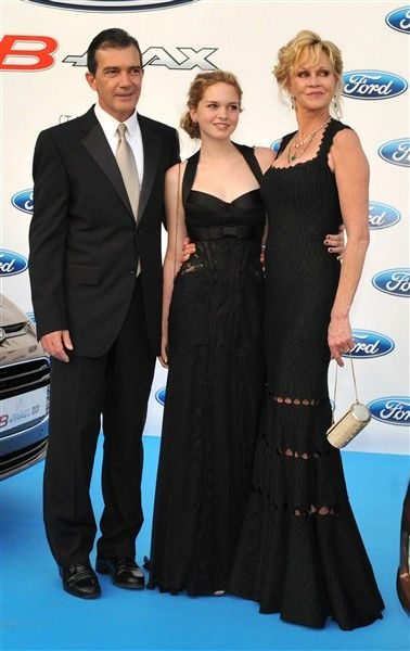 Melanie Griffith, Antonio Banderas and daughter, I think they are both great in Movies