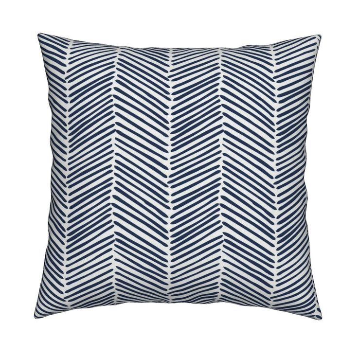 Navy Throw Pillow - Freeform Arrows Large Indigo By Domesticate - Catalan Pillow by Roostery with Spoonflower - Square Pillow w Insert by Spoonflower on Etsy https://www.etsy.com/listing/478311629/navy-throw-pillow-freeform-arrows-large