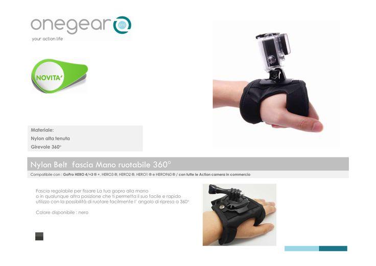 Gopro accessori fascia mano ruotabile 360° con chiusura rapida in velcro
