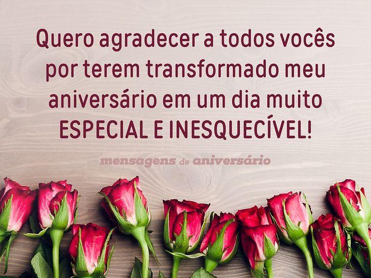 Quero agradecer a todos vocês por terem transformado meu aniversário em um dia muito especial e inesquecível! (...) https://www.mensagemaniversario.com.br/gratidao-por-um-aniversario-maravilhoso/