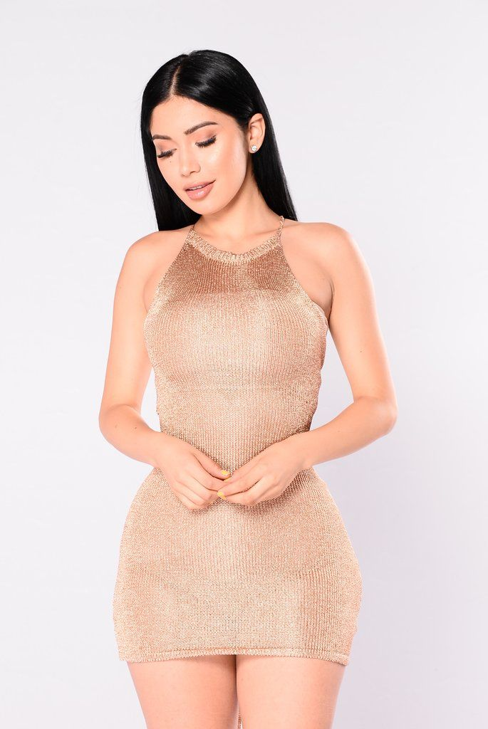Club Hopper Dress – Rose Gold