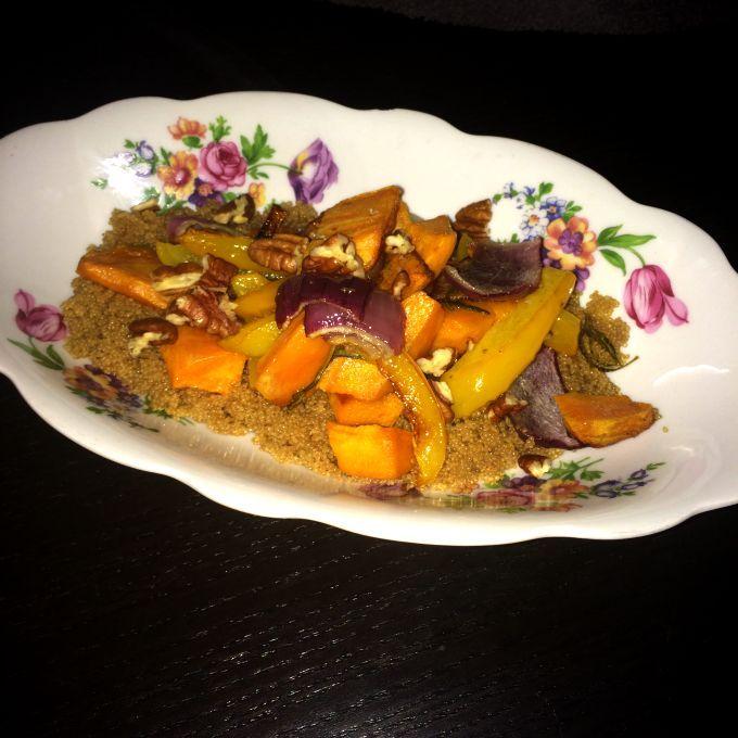 #Amaranth met zoete aardappel uit de oven #healthyvega #vegan