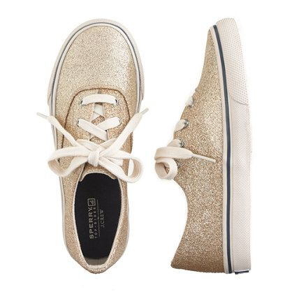 J.Crew - Girls' Sperry Top-Sider® for crewcuts glitter sneakers <- Para Génesis n.n
