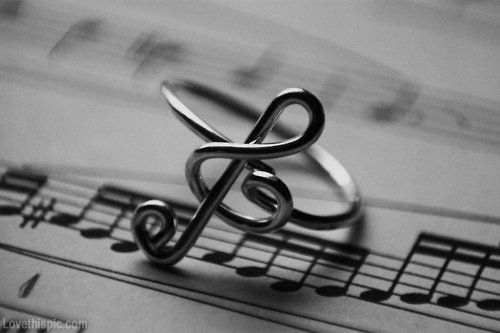 Music Note Ring photography black and white music note ring blackandwhite