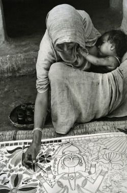 Edouard Boubat - Mithila, Inde, 1973