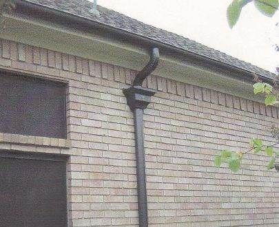 5 Inch Half Round Gutters With Round Downspouts In Dallas