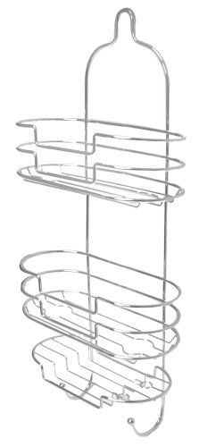 "Aquatico Jazz-Style 2 Tier Shower Caddy, Chrome by AQUATICO. $32.50. Space Saving. Sophisticated Style & Design. Hanging. Multiple Storage. Easy Installation. Aquatico JL-7931-2TI  2 Tier Chrome ""finish"" Hanging Shower Caddy with Soap Dish Holder & Twin Hooks- Loop Attachment - Jazz Design. The Aquatico Brand of the finest innovative fashion bathroom accessories is synonymous with Quality, Value & Design and has been the choice of consumers for the last 40 years. This Exquisi..."