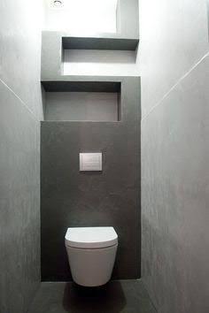 Znalezione obrazy dla zapytania powder room with wall hung toilet