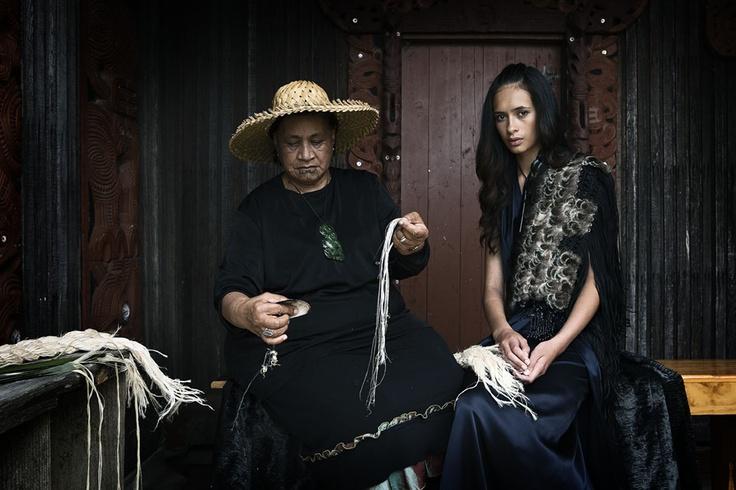 """Nanny"" Esther Davis & Yasmin Bidois  Orakei Marae, NZ"