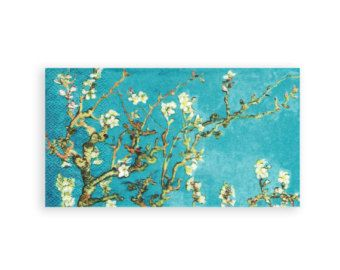 Paper napkin for decoupage, mixed media, collage, scrapbooking x 1. No. 1130 Almond Blossom