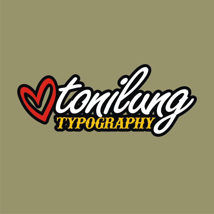 tonilung typography logo
