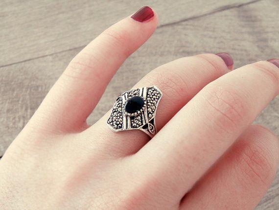 antique fine ring vintage silver ring Victorian by CarmelaRosa