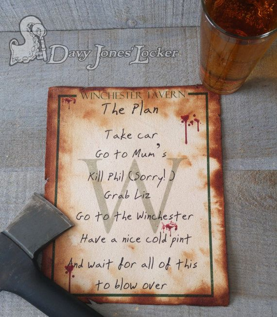 FREE SHIPPING - The Plan - Parchment paper - Shaun of the Dead