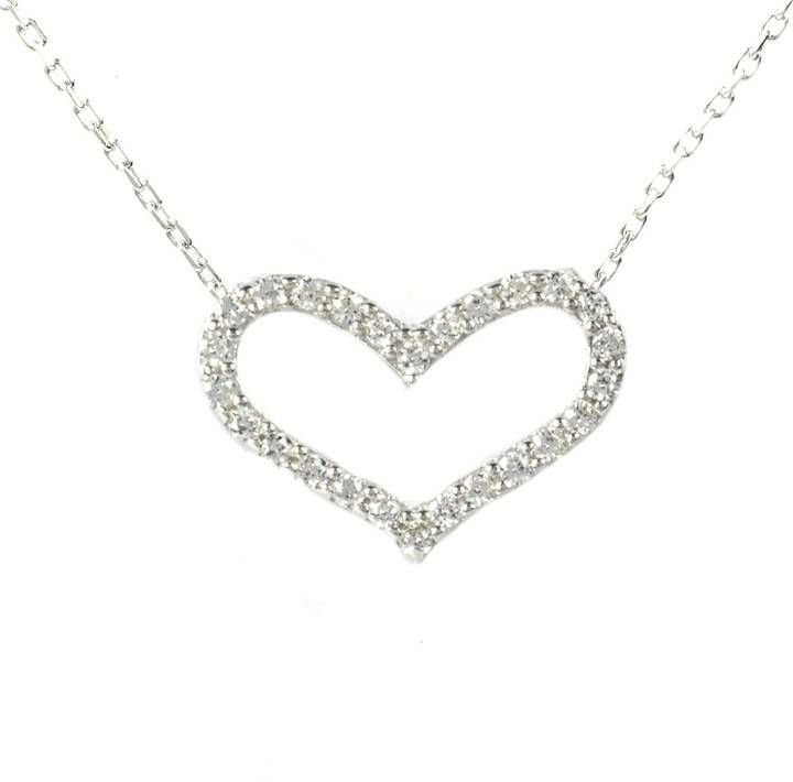 Latelita London - Silver Heart Necklace