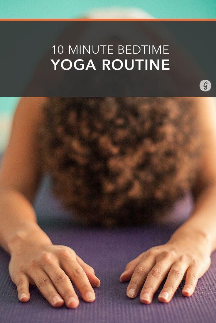 Can't Sleep? This 10-Minute Yoga Routine Will Help You Fall Asleep Fast #yoga #sleep