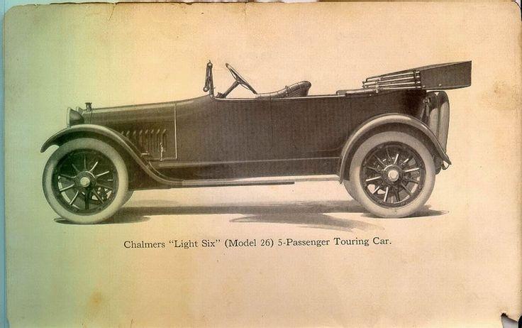 "1915 Chalmers ""Light Six"" Model 26 5-passenger Touring Car"
