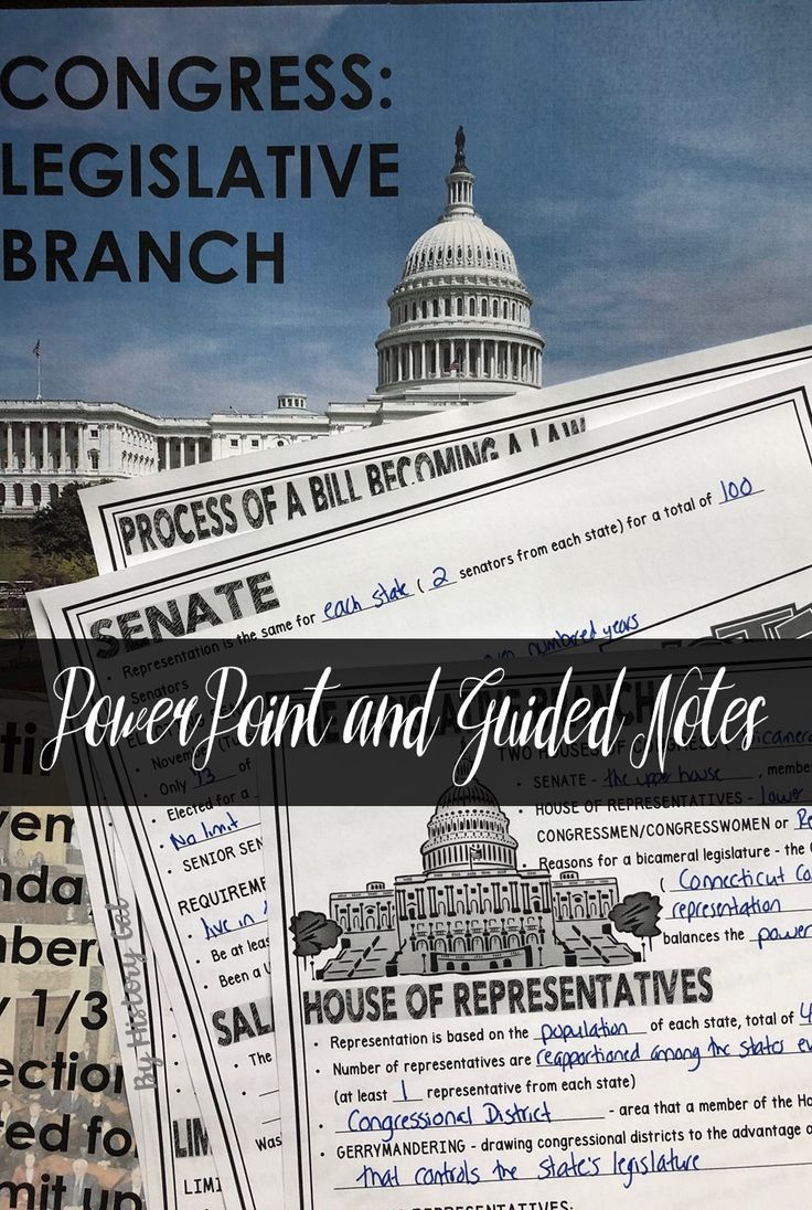 U S  Legislative Branch (Congress) PowerPoint and Guided