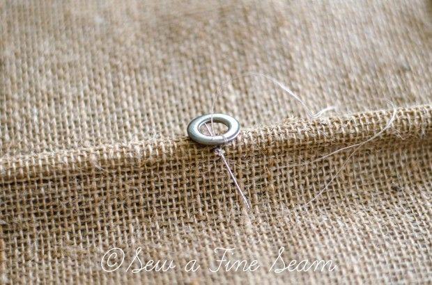 Burlap Roman Shade | Sew a Fine Seam