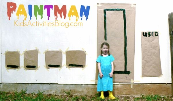 What a fun way for the kids to practice spelling - play paint+hangman!!