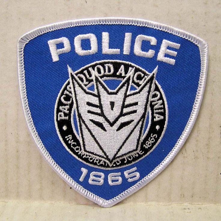 "Transformers Movie Police Uniform Logo  4"" Uniform Patch  (TRPA-06)"
