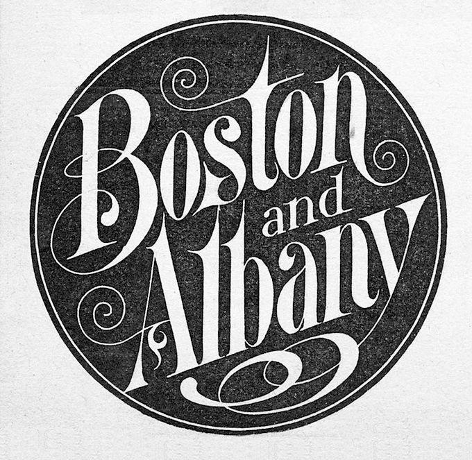 Boston and Albany Railroad logo 1900