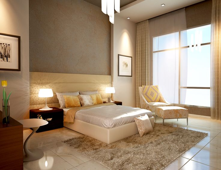 3d render 3ds max bedroom modern bedroom master for Decoration 3ds max