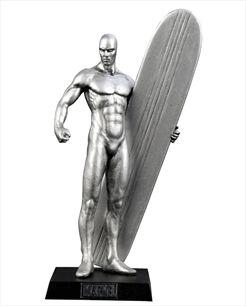 Marvel Figurines - Edição 07 - Surfista Prateado   Loja Eaglemoss - Coleções