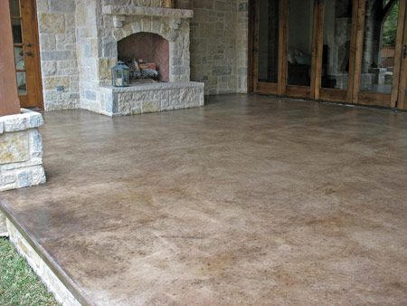 Stained concrete floors outdoor for Acid wash concrete patio