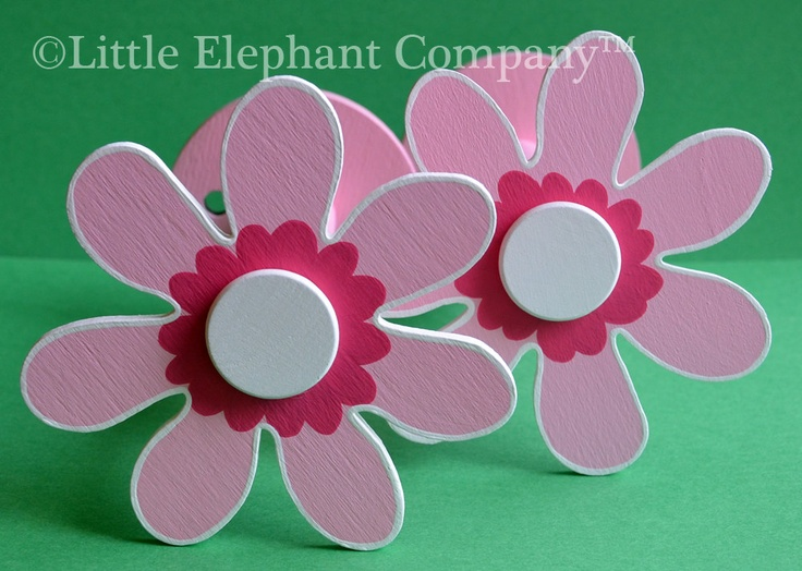 Light Pink Daisy Curtain Holdbacks