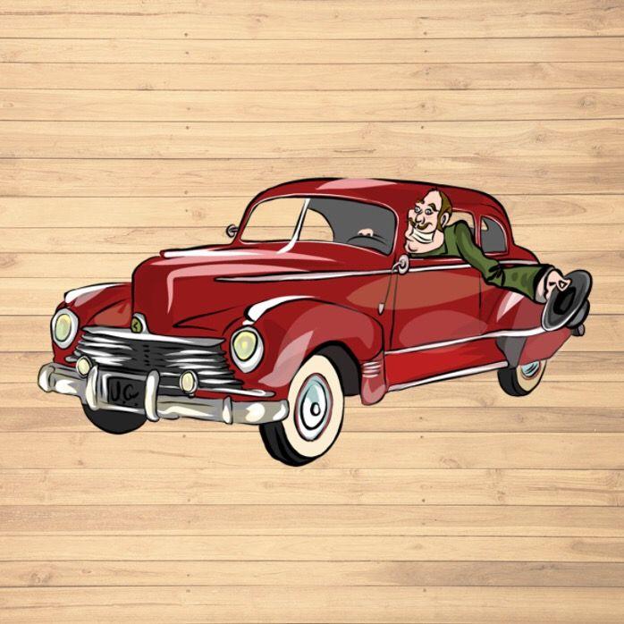 Old Vintage Car Digital Painting Sublimation Download Printable Wall Art Png Design Elements Clipart Vintage Cars Old Vintage Cars Car And Motorcycle Design