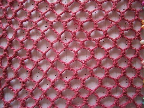 Crochet irlandes - Paso a paso cómo tejer una variedad mas compleja de red regular - 3° Práctica - YouTube