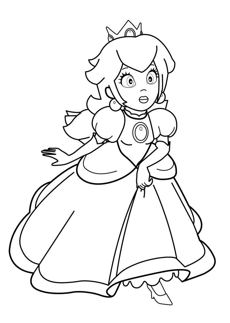 princesse supermario coloring page for girls printable