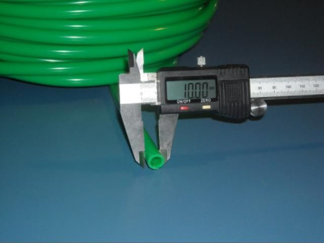 Zöld szilikon cső