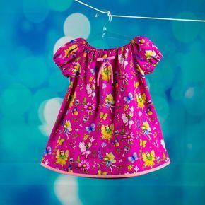 Kostenloses Schnittmuster für Kleid: Anleitung für das Peasant Dress