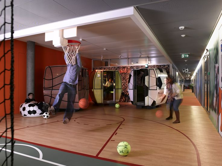 Google Office Zurich | Games and Sport Lounge #GoogleZurich, #Office, #Games, #Play