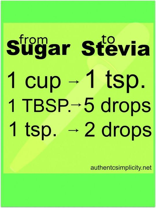Substitute Stevia for Sugar - Stevia is a natural sweetener used for centuries in South America. Great for diabetics and those trying to kick the pervasive granular crack. It may seem more expensive than sugar but since you use so little. it's really not. Replacing sugar with stevia in most recipes is really as simple as shown in this chart.