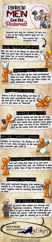 A few ways men can use Pinterest!