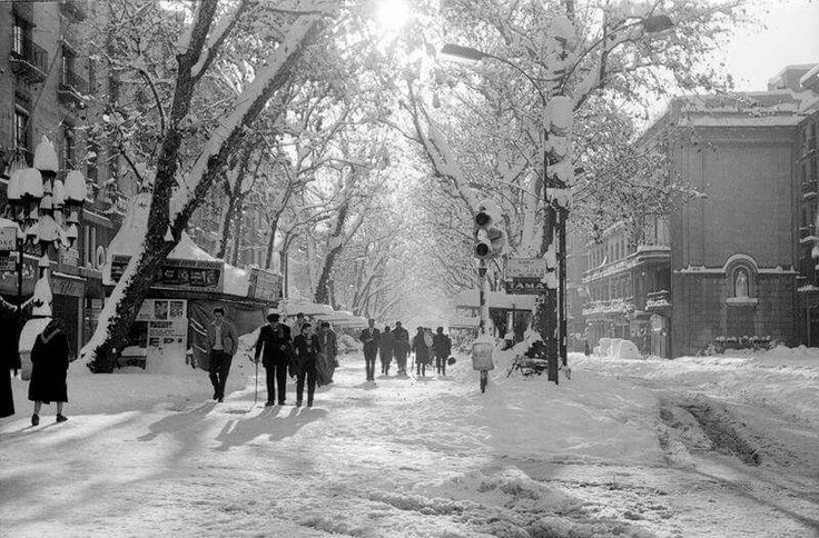 La Rambla. Nevada de 1962